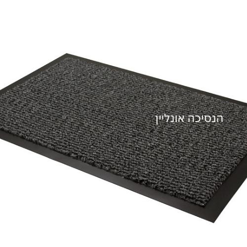 שטיח כניסה לבניין דגם - וגאס שחור אפור