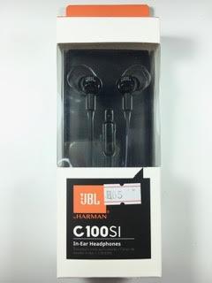 אוזניות JBL C100SI בצבע שחור