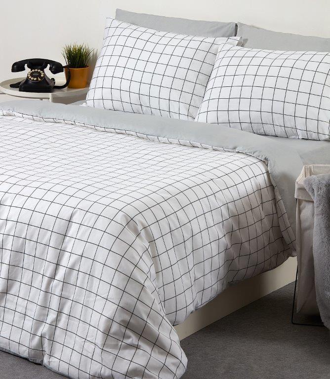 סט מצעים למיטה 5 חלקים 100% כותנה - בריסל