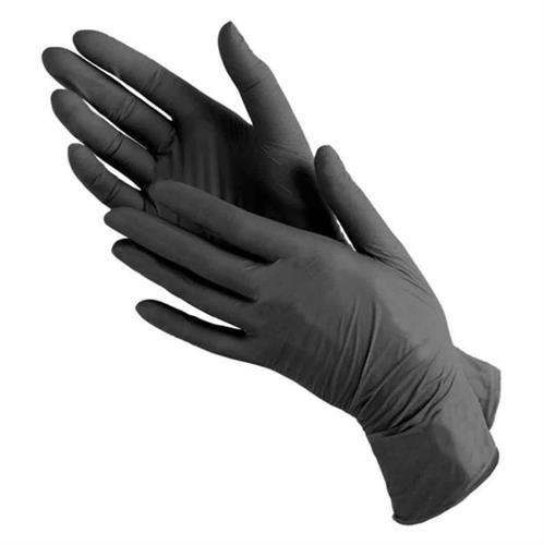 מידה S - כפפות לטקס שחורות ללא אבקה (100 יח')