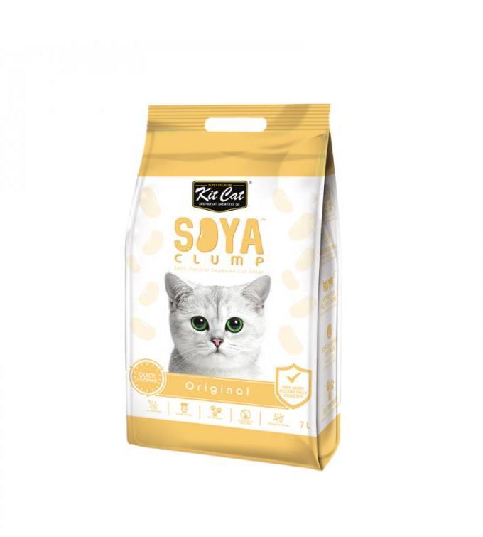 חול חתולים אורגני סויה בניחוח טבעי 7 ליטר