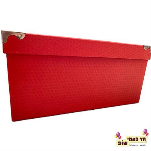 קופסא מתכת אדום מידה 10