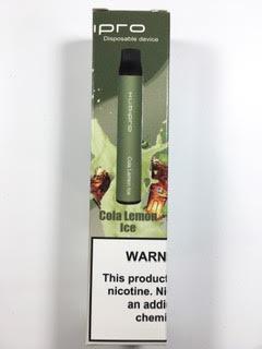 סיגריה אלקטרונית חד פעמית כ 2000 שאיפות Kubipro Disposable 20mg בטעם קולה לימון אייס Cola Lemon Ice