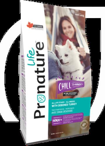 """Pronature פרונייצ'ר 11.3 ק""""ג מזון יבש לכלבים בוגרים בטעם הודו (צ'יל הרמוני)"""