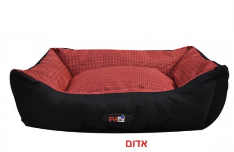 מיטה לכלב בצבע אדום  הדוחה מים גודל 90X70X24 פטקס