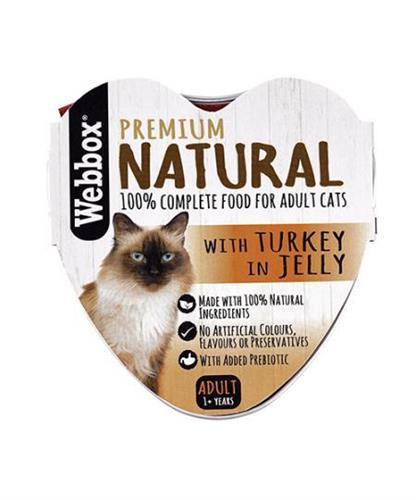 וובוקס, מזון רטוב לחתולים בוגרים, בשר הודו טבעי ברוטב, 85 גרם – Webbox