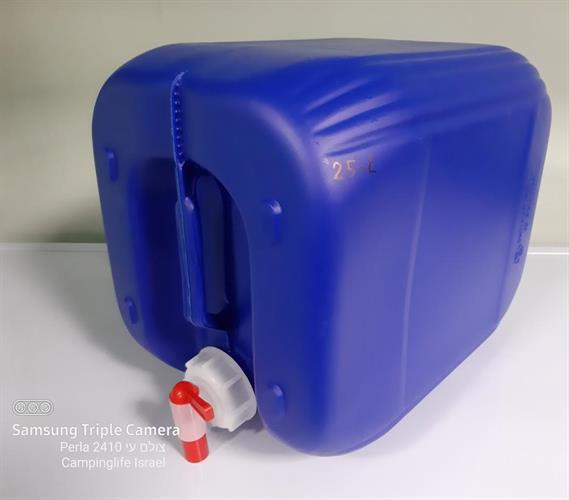 מיכל גריקן 25 ליטר עם ברז צבע כחול מתאים למי שתיה