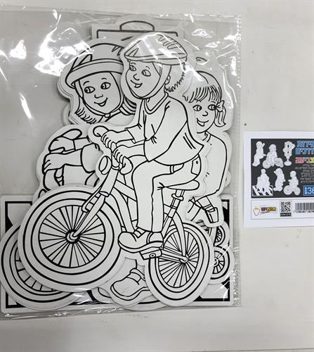 עבודת יצירה ילדים על אופניים