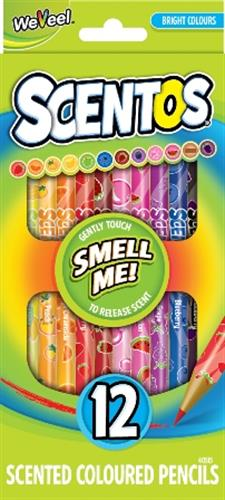 סנטוס- 12 עפרונות צבעוניים ריחניים