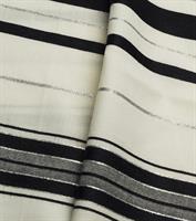 טלית צמר שחור לבן