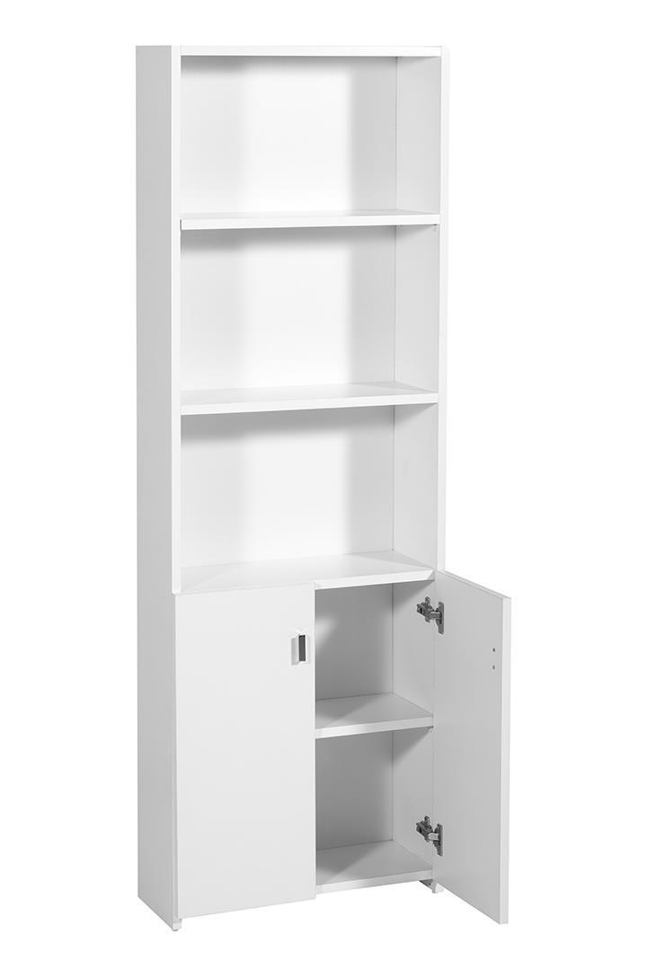 ארון ספריה גבוה+ 2 דלתות דגם K2b