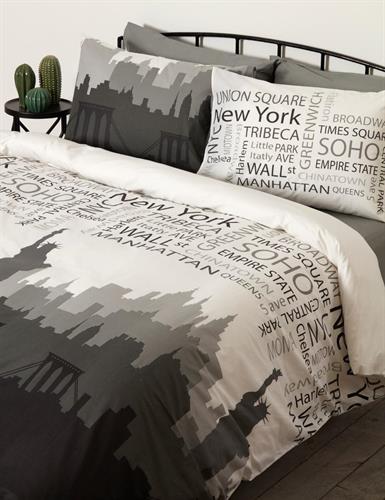 סט מצעים מיטה וחצי 100% כותנה ניו יורק