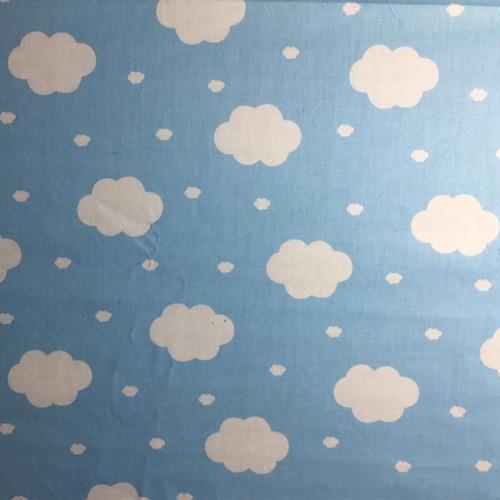משטח פעילות בעיצוב עננים, רקע תכלת ב-4 גדלים לבחירה