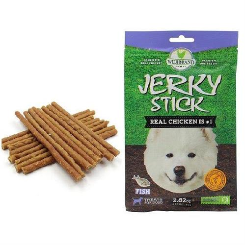 חטיף לכלבים ג'רקי מקלות סלמון 80 גרם