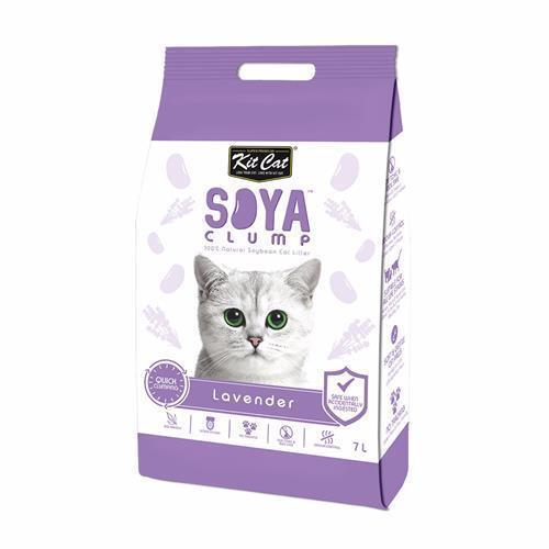 חול חתולים אורגני סויה בניחוח לבנדר 7 ליטר