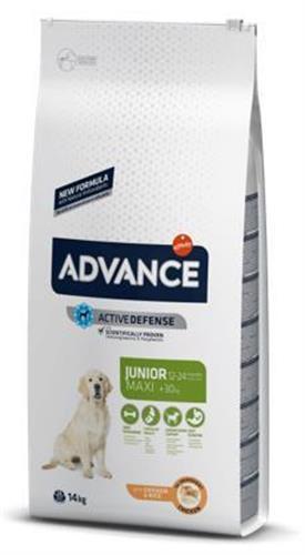 """8410650235400 מזון יבש לכלבים מגיל 12 עד 24 חודשים מגזע גדול מבוסס עוף 14 ק""""ג Advance"""