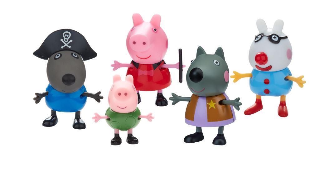פפה פיג- פפה וחברים מחופשים (5 דמויות)