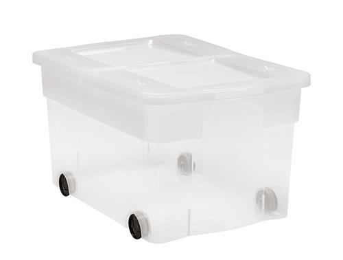 קופסת אחסון כתר דגם פליפ 45 ליטר + גלגלים
