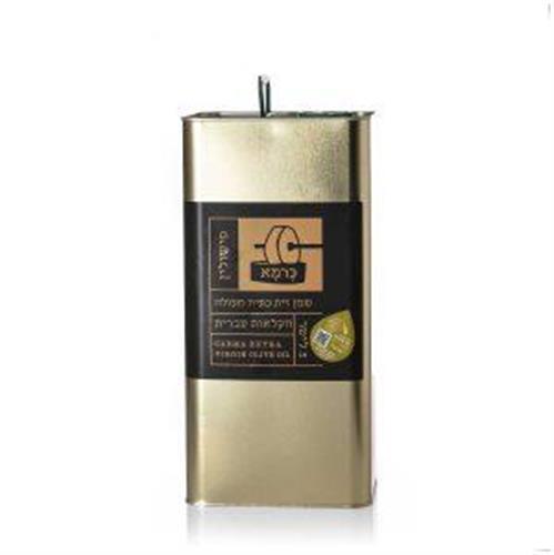 שמן זית כתית מעולה כרמא  ראשון המסיק - פישולין, פח 5 ליטר