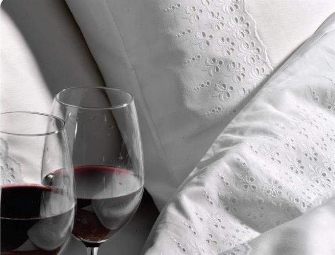 מצעים יוקרתיים - Hermon קולקציית בתי מלון 100% כותנה סאטן עם תחרה