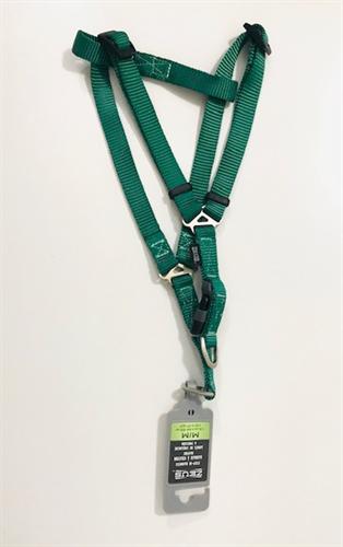 רתמת ניילון A -זאוס גודל M ירוק לכלב קטן-בינוני