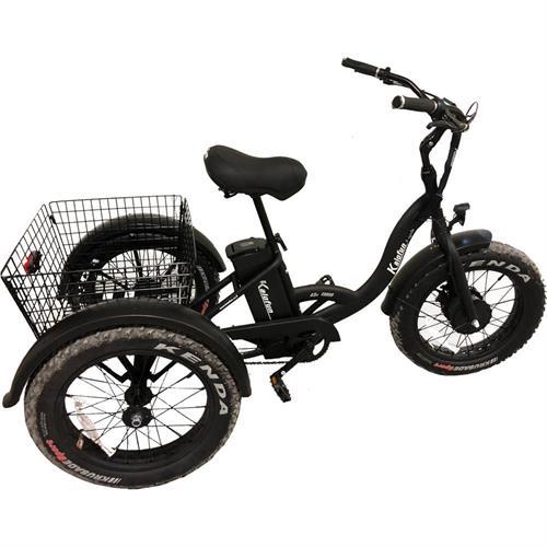 תלת אופן חשמלי 48 וולט גלגלי בלון קל אופן Kalofun 3Cycle