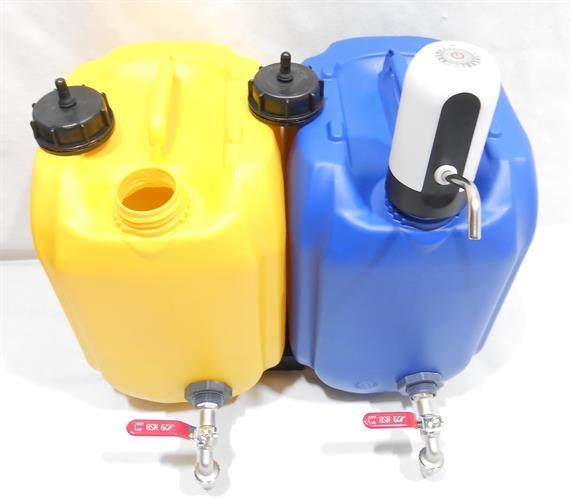משאבה נטענת להרכבה על מיכלי מים לשתייה