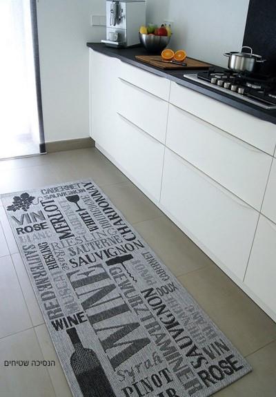 שטיח למטבח \בקבוק יין