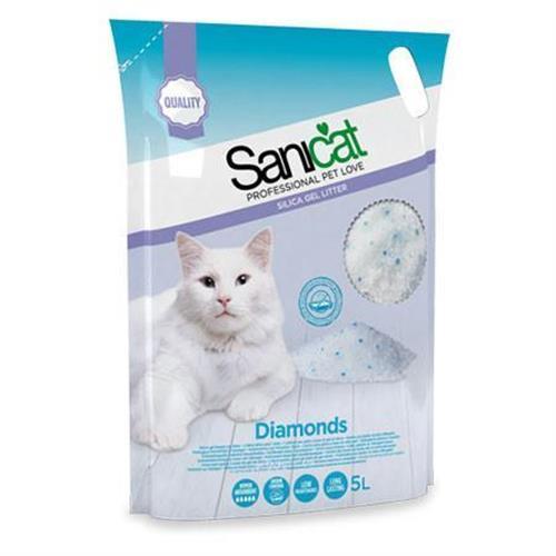 סאני קט יהלומים חול קריסטלי לחתולים 5 ליטר
