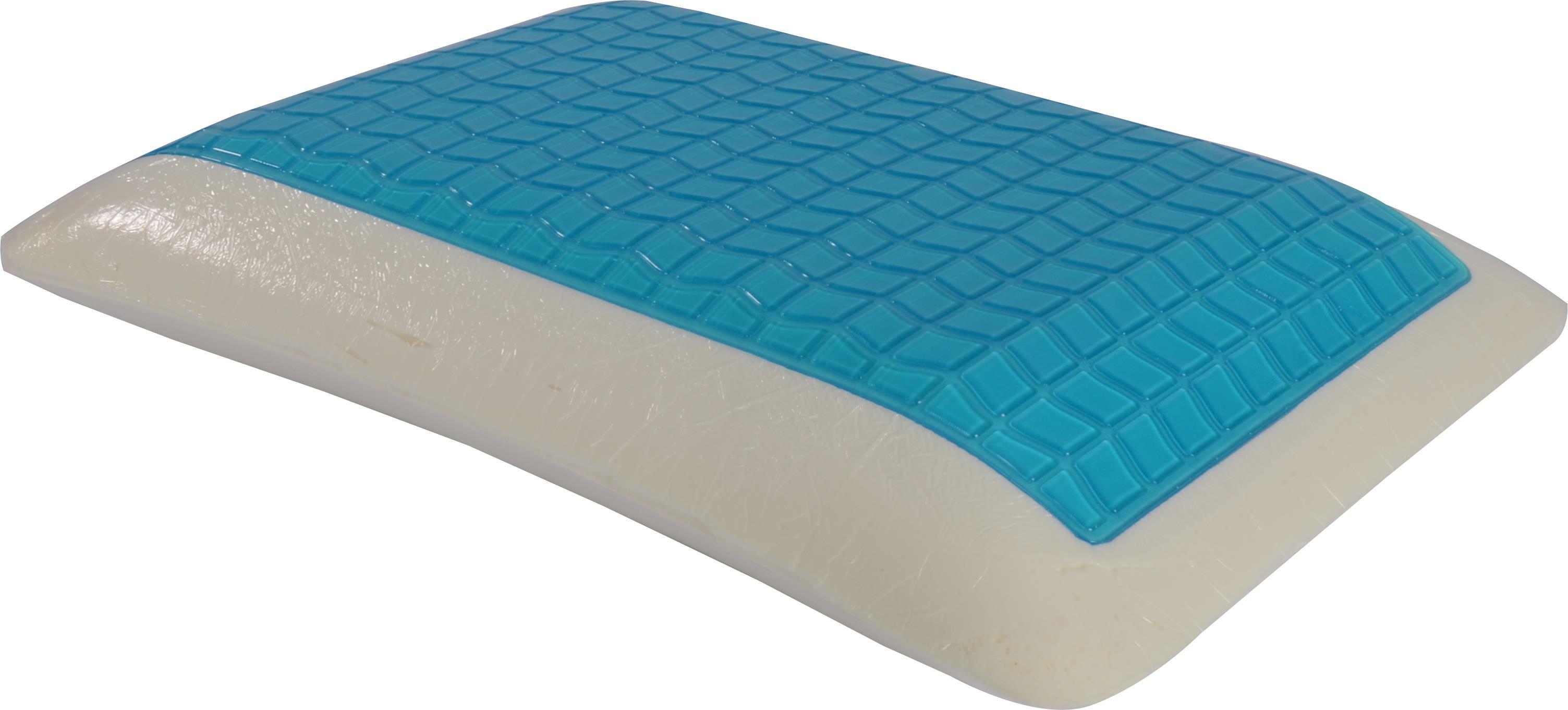 כרית שינה ויסקו אורטופדית שטוחה עם שכבת ג'ל קירור