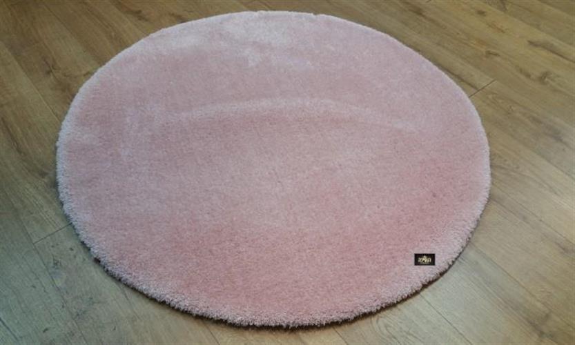 שטיח עגול וורוד  מיקרו פיבר   דגם feel