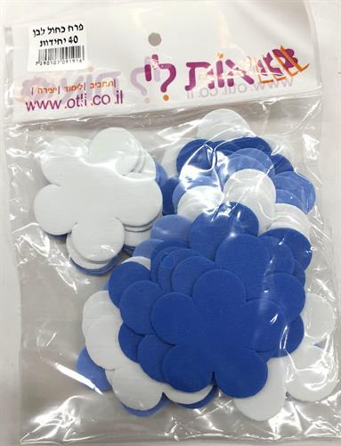 פרחים מסול כחול לבן