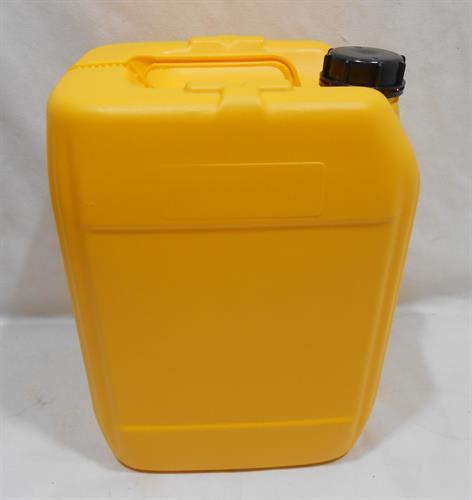 מיכל צהוב ג'ריקן 20 ליטר עם פקק שחור מתאים למי שתיה