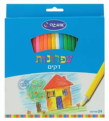 עפרונות צבעוניים דקים 24 יחידות