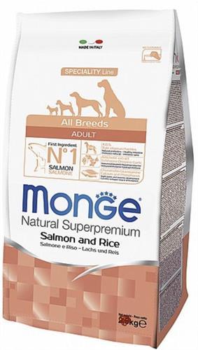 MONGE-אדולט  סלמון ואורז  12 קג.  All breeds
