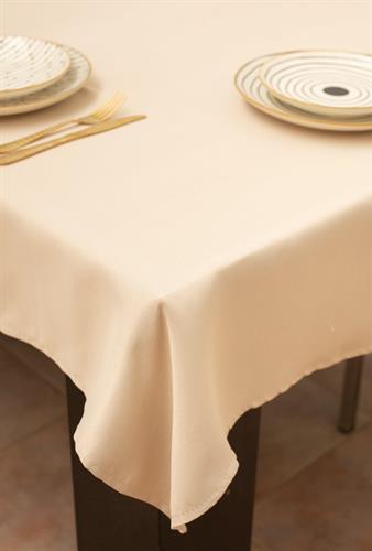 מפת שולחן איכותית ועבה Beige - בז' חלקה