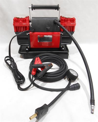קומפרסור  דו ראשי מקצועי מהיר ועוצמתי 300 ליטר לדקה צבע אדום
