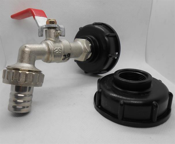 מכסה פקק עם הברגה 4\3 נקבה להתקנת ברז או כל מטרה  לסדרת ג'ריקנים מים 11.18.20.25.30.60 ליטר