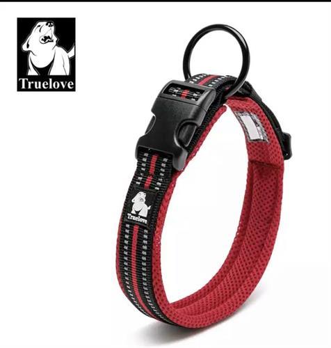 קולר מרופד לכלב בינוני/גדול-L- בצבע אדום