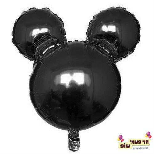בלון 18 אינץ' מיקי ראש שחור (ללא הליום)