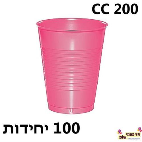 100 כוסות צבעוניות אדום