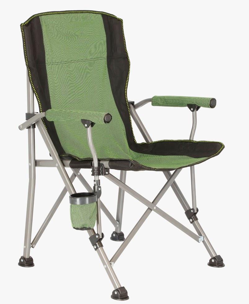 כיסא מתקפל לטיולים ספארי  צבע ירוק משקל ישיבה עד 120 קג'
