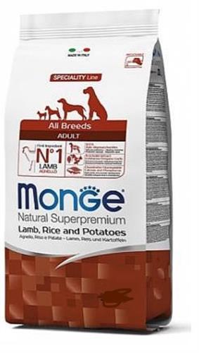 MonGe אדולט כבש ואורז 12 קג