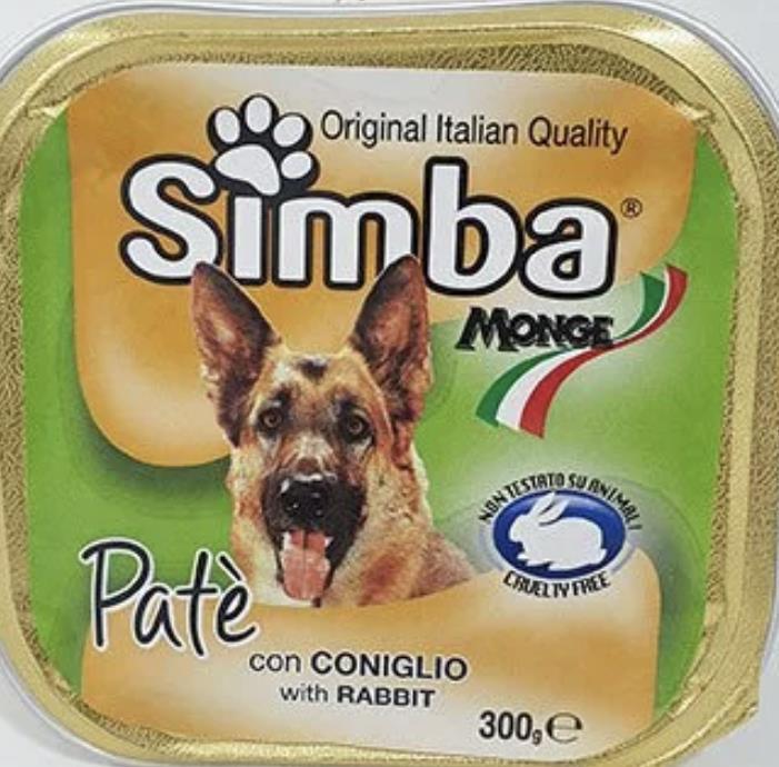 סימבה מעדן פטה  לכלב בטעם ארנבת -300 גר