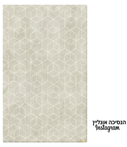 שטיח מעוינים אפור דגם אופוס-06