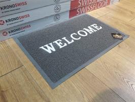שטיח כניסה -  L  - welcome -שטיח כניסה גומי  צבע שחור \ אפור          מידה      60*40   תוצרת סין