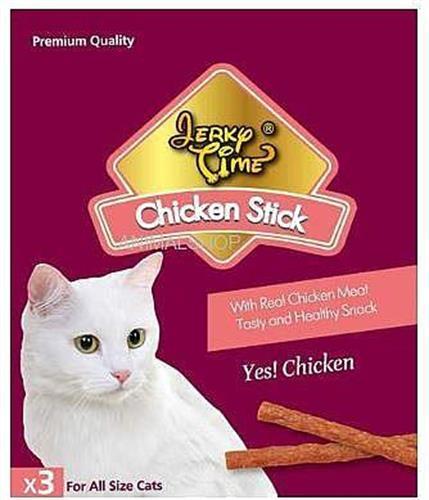 חטיף גרקי מקלות לחתול x3 באריזה בטעם עוף