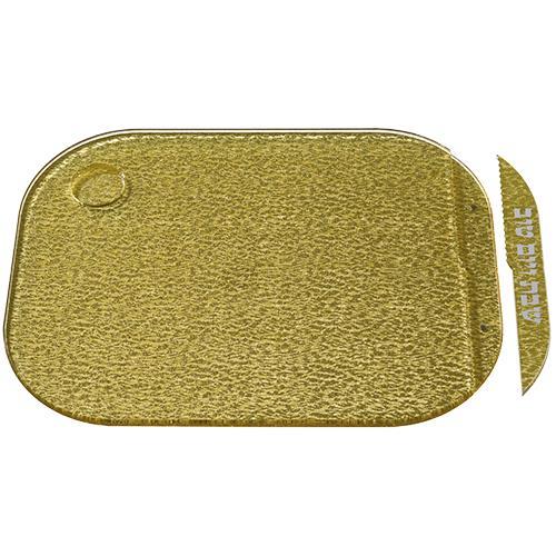 """מגש חלה זהב מהודר מפרספקס עם סכין 28X37 ס""""מ"""