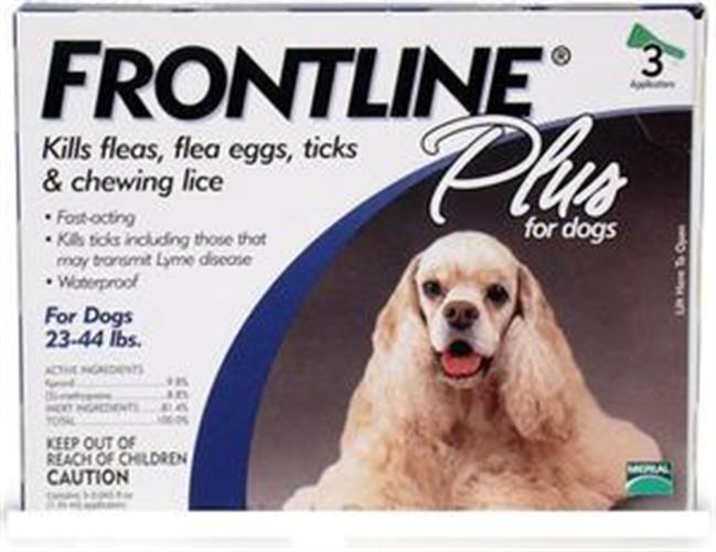 """פרונטליין 3 אמפולות נגד פרעושים וקרציות לכלב מ- 10 ק""""ג עד 20 ק""""ג"""
