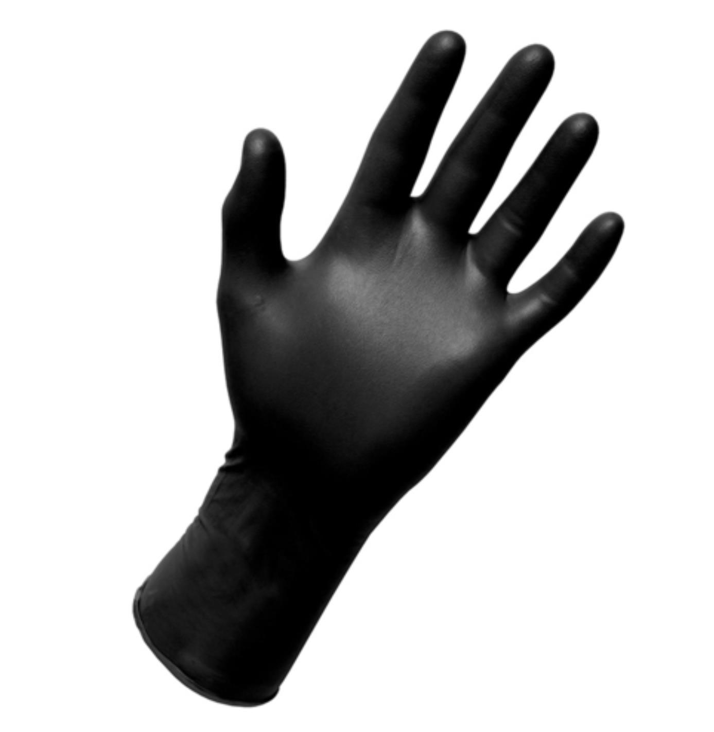 3 ב 100 כפפות ויניל שחורות ללא אבקה- 100 יח' במארז